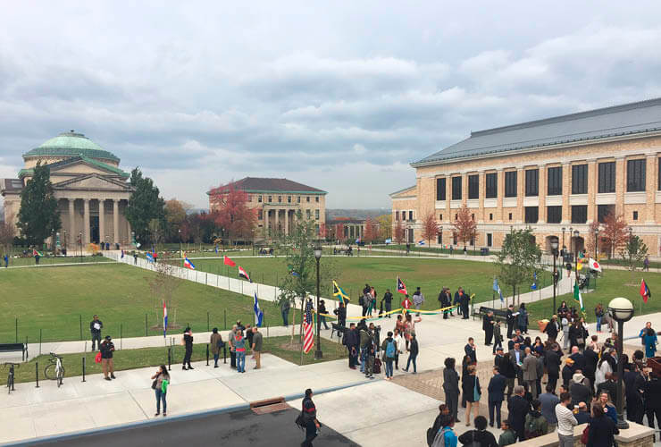 Bronx Community College Celebrates Reconfigured Quadrangle