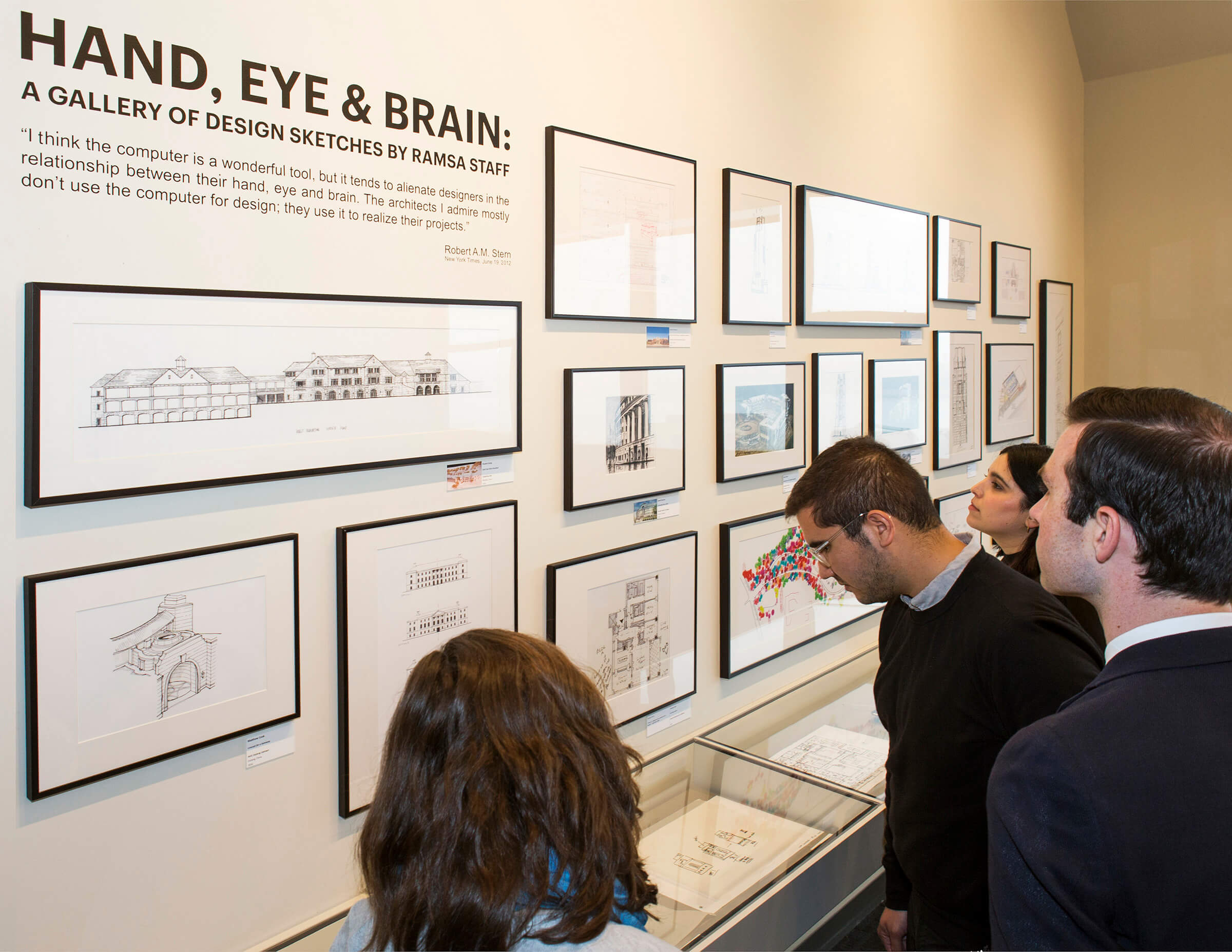 """Hand, Eye & Brain: A Gallery of Design Sketches by RAMSA Staff"" Opens"