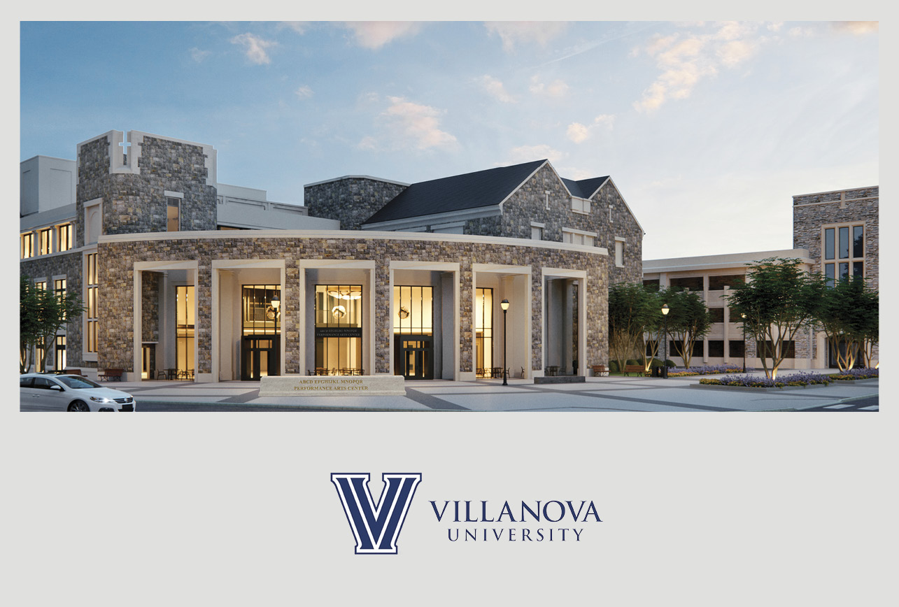 Villanova University's Performing Arts Center Tops Out