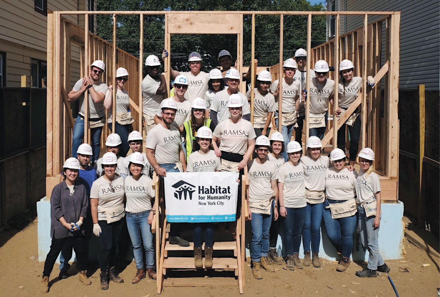 Robert A.M. Stern Architects Volunteers for Habitat for Humanity NYC