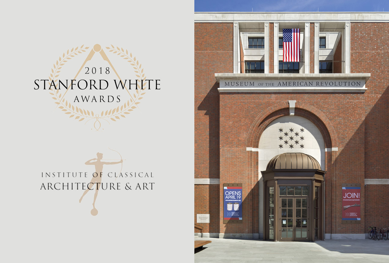 Museum of the American Revolution Wins 2018 Stanford White Award