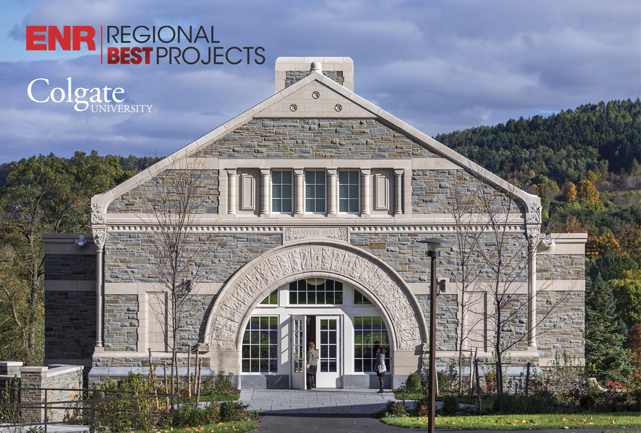 Colgate's Benton Hall Wins 2019 ENR Regional Best Projects Award