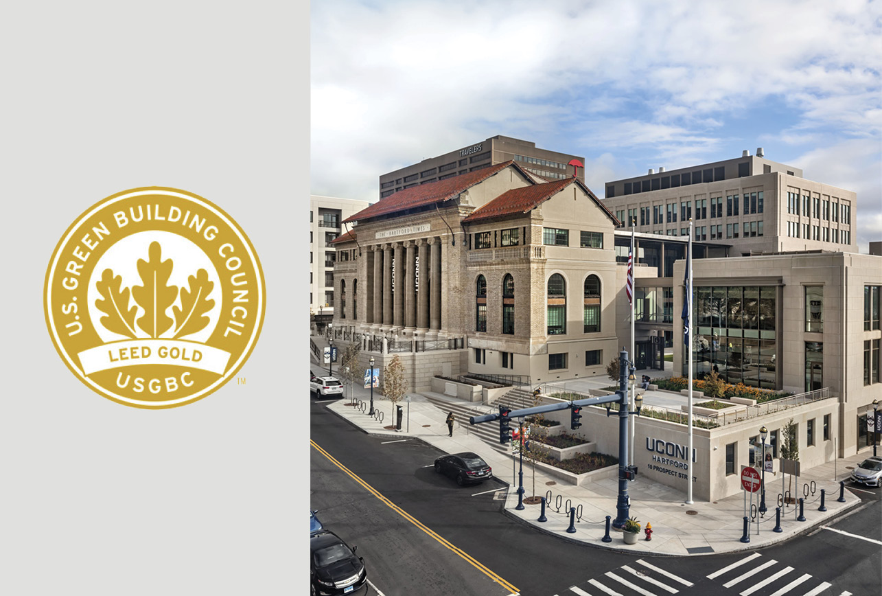 UConn Downtown Certified LEED Gold