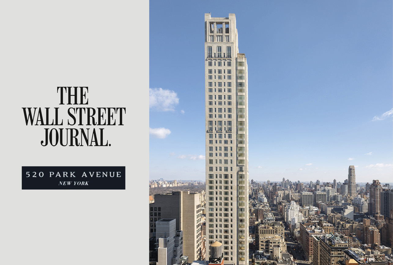"520 Park Avenue Tops The Wall Street Journal's ""Best Architecture of 2019"""