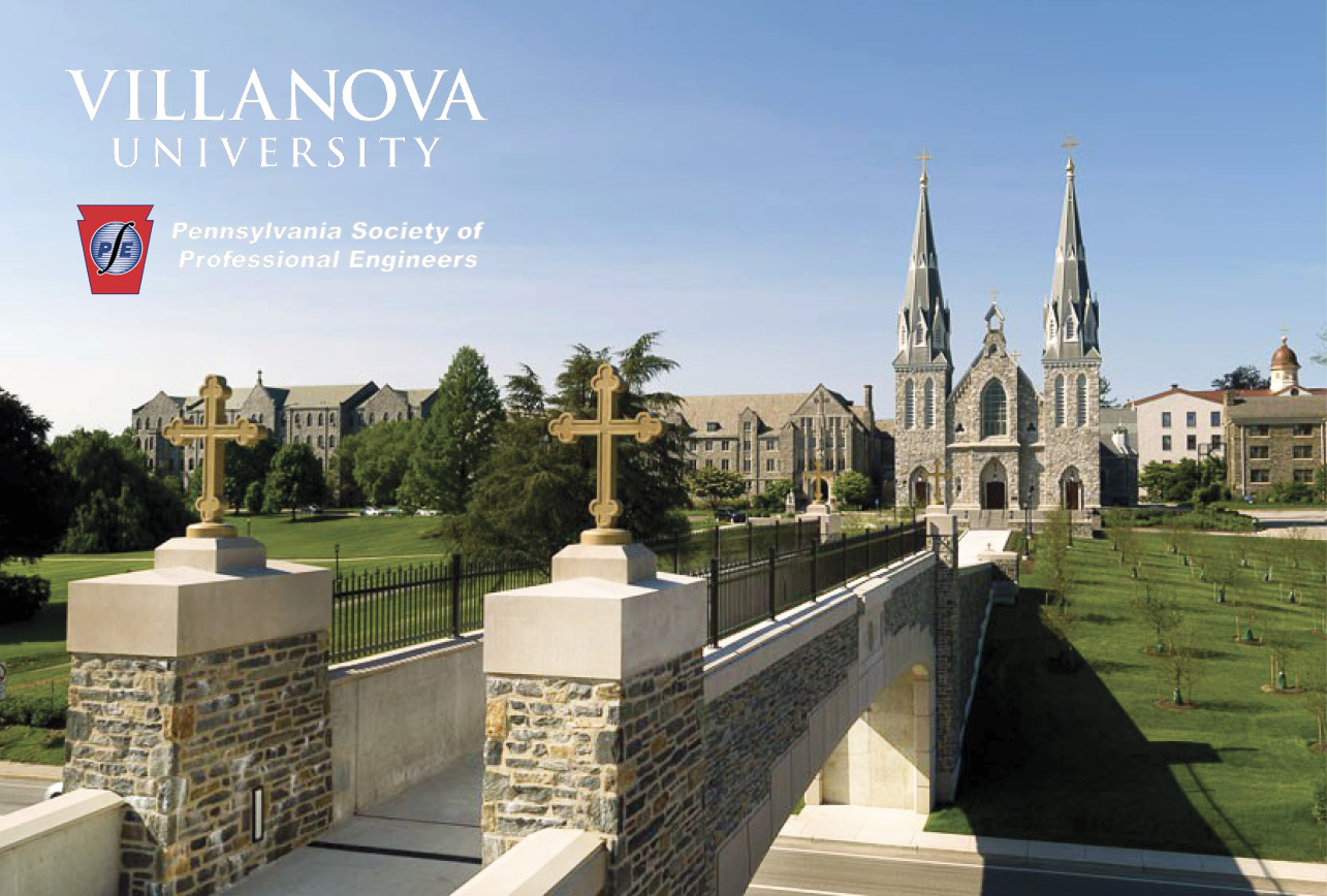 Pedestrian Bridge at Villanova University Wins PSPE Award
