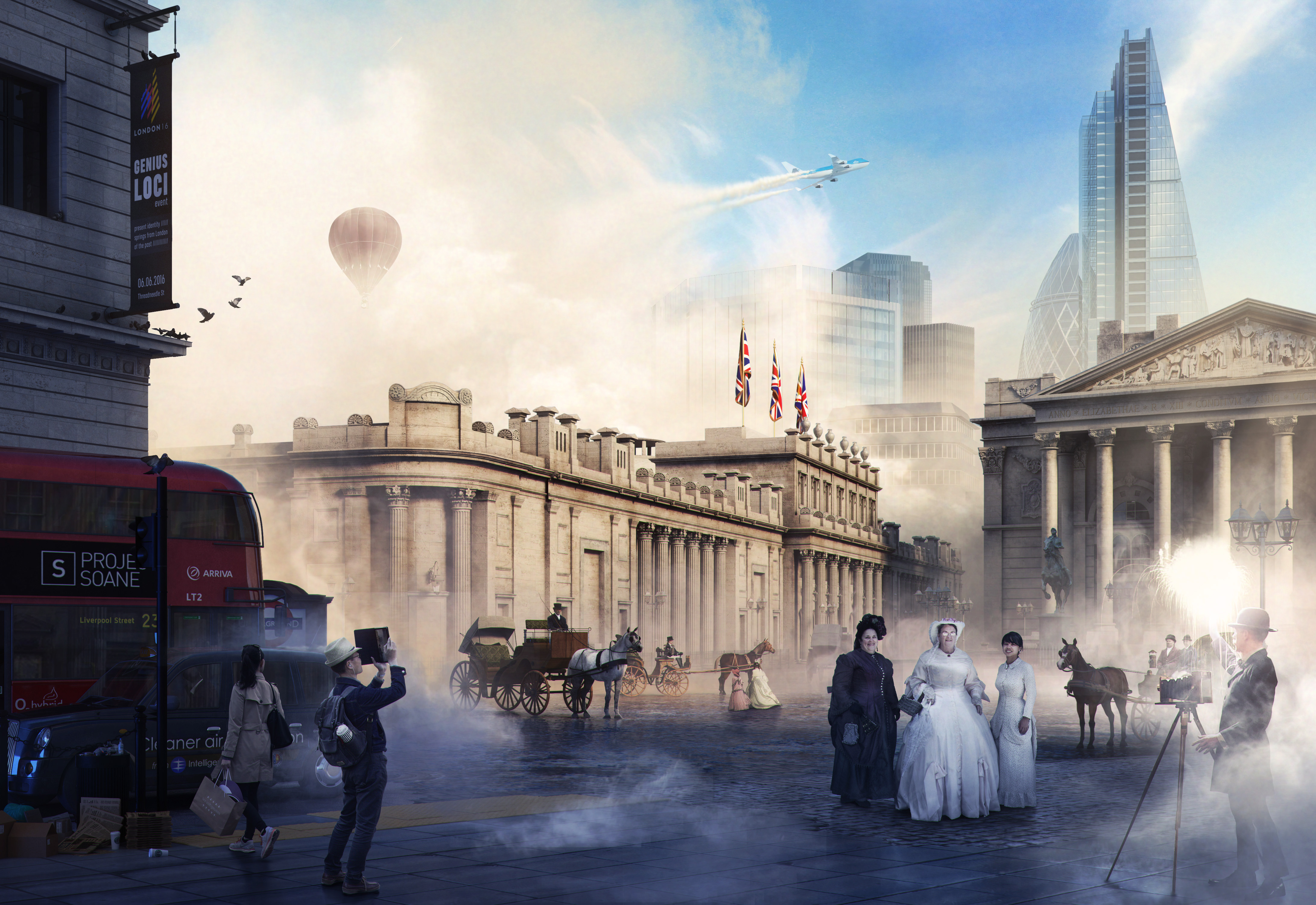 <p>Collage of London over the last 150 years with Sir John Soane's Bank of England. Project Soane best image honorable mention. Rendering Bartosz Domiczek, 2016.</p>