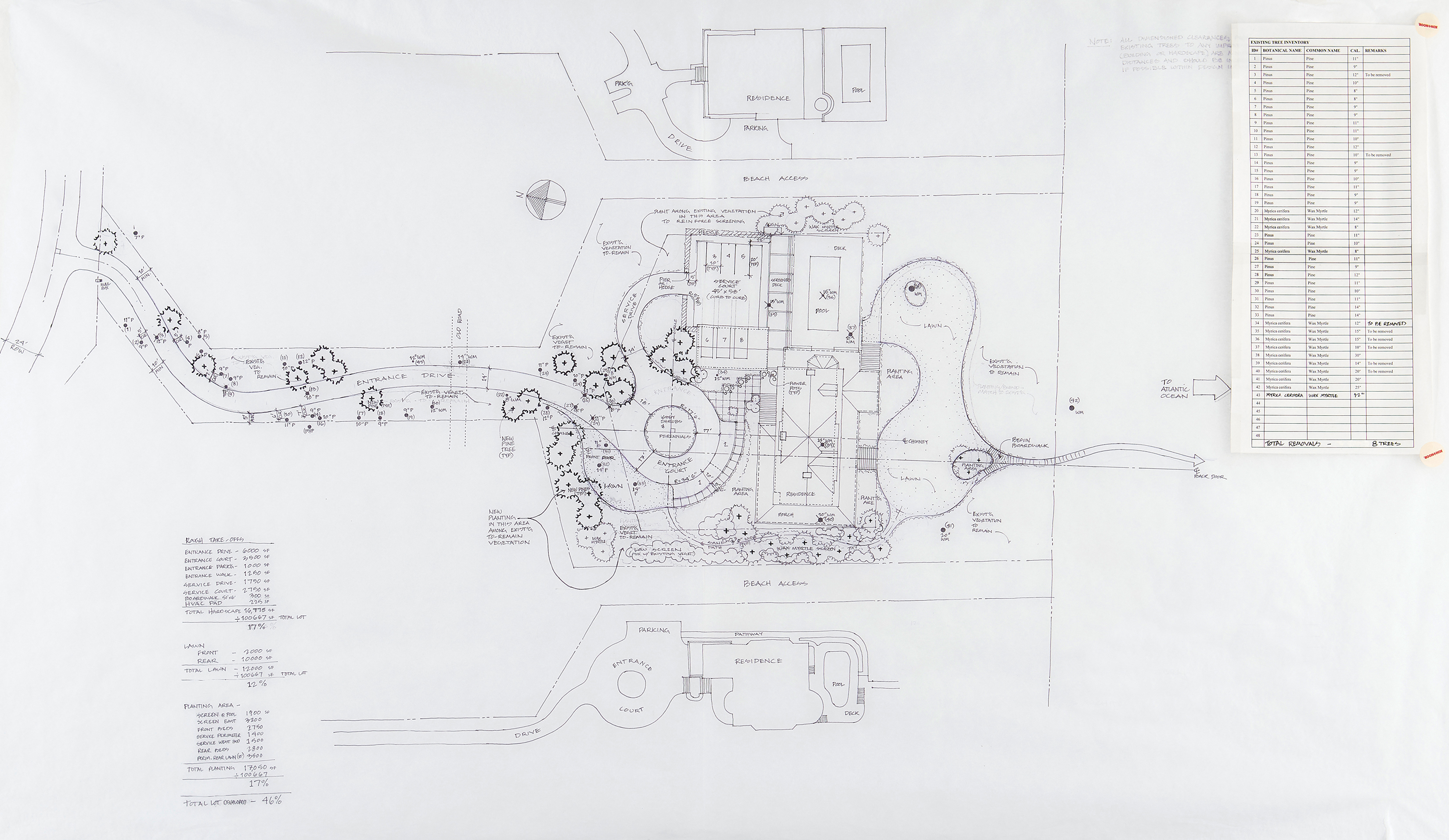 <p><span><span><span><span>Site plan of the original house. Drawing 1999. </span></span></span></span></p>