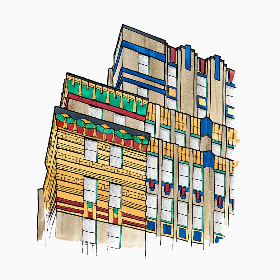 <p><span><span><span><span>Two Park Avenue. Drawing Leopoldo Villardi, 2020.</span></span></span></span></p>