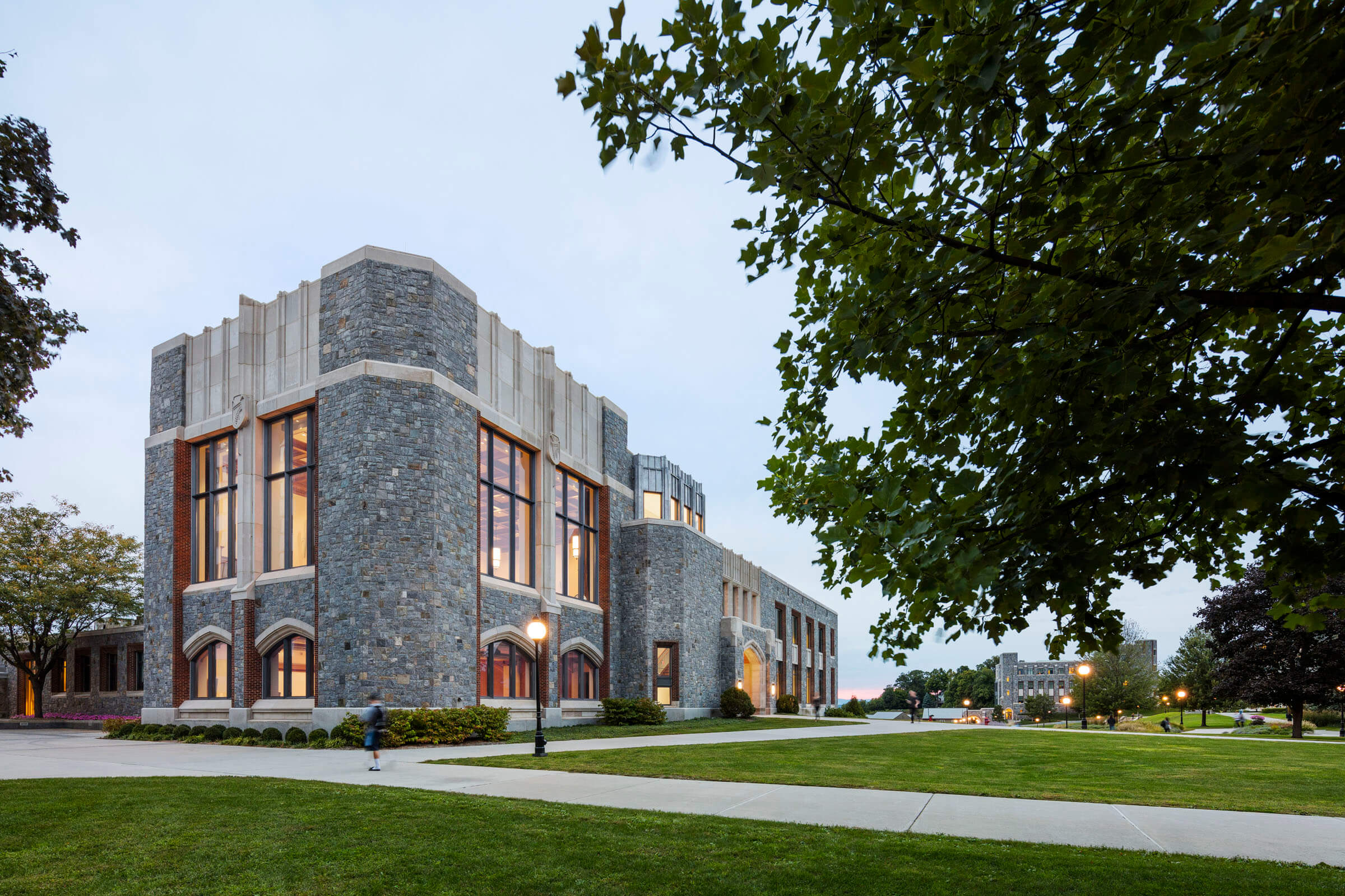 front view of  murray music  center marist college