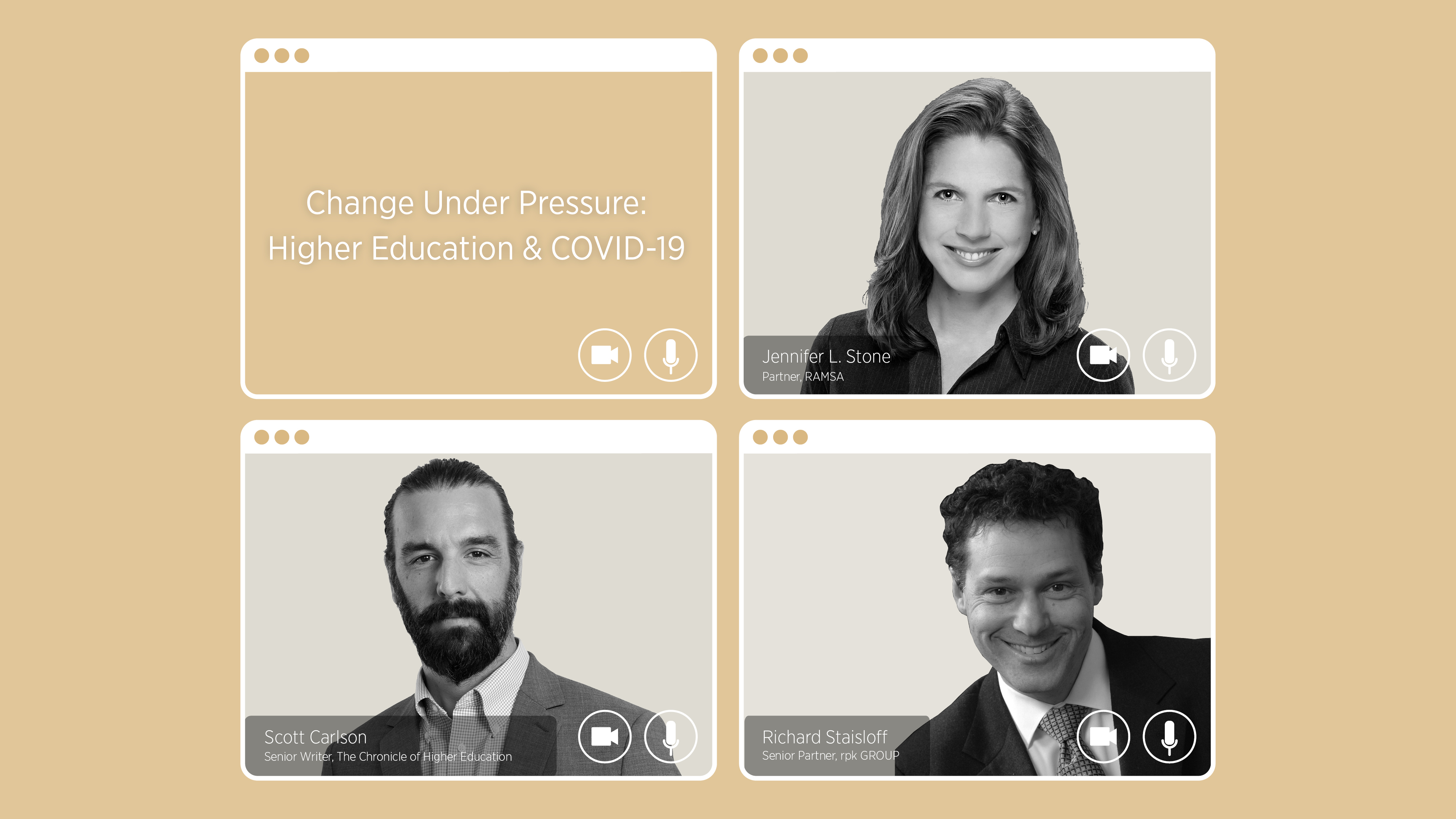 "Conversations @RAMSA, Segment One, ""Change Under Pressure: Higher Education and COVID-19"""