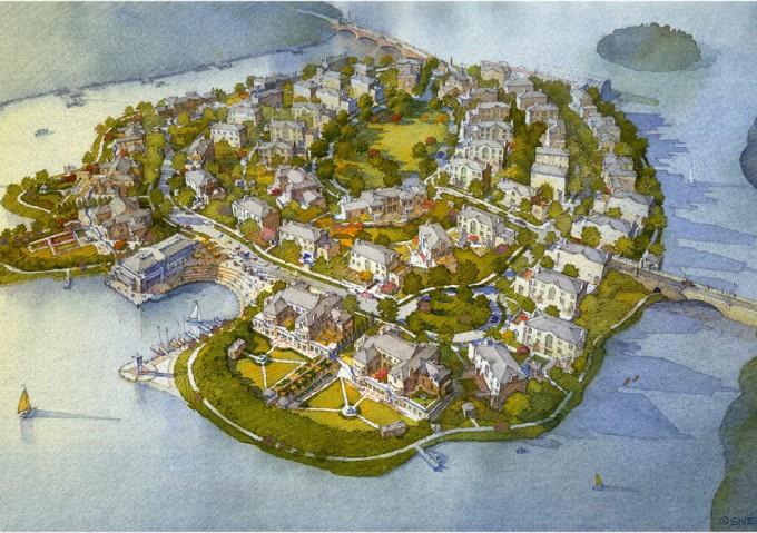 Residences on Zero Island